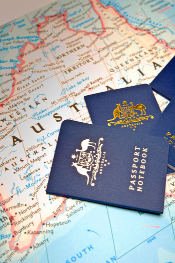 Australia map and passports- Cameron Poetzscher Blog
